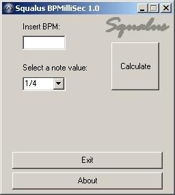 Squalus BPMilliSec 1.0