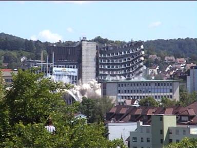Sprengung der Leobau-Wüstenrot-Hochhäuser in Leonberg (30.05.2009) - Bild 2