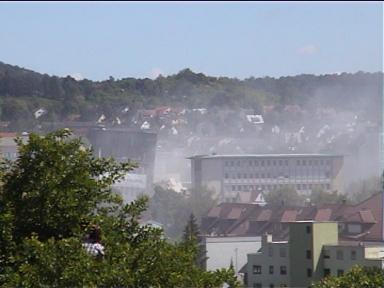 Sprengung der Leobau-Wüstenrot-Hochhäuser in Leonberg (30.05.2009) - Bild 6