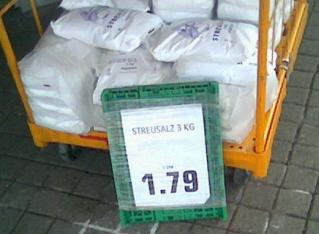 Streusalz: 3kg für 1,79